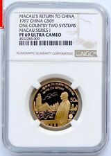 1997 Macau One Country Two Systems 1/2oz Gold coin G50Y NGC PF69 Ultra Cameo