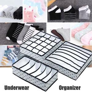 3PC Underwear Sock Tie Storage Organizer Drawer Bra Pants Divider Tidy-Wardrobe·
