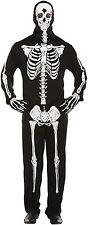 Traje De Cuerpo Esqueleto Adulto & Casco Máscara Halloween Elaborado Vestido Disfraz V37 724