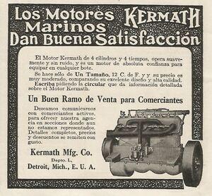 W5256 Los Engine Marinos Kermath - Advertising 1913