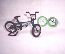 """DOLL HOUSE MINIATURE BICYCLE TOY-ONE:BLUE-GREEN-MAROON 1-14=4-3/4"""" L=CAKE TOPPER"""