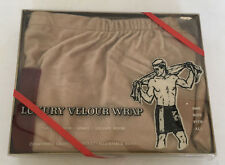 vintage mens luxury velour wrap for shower lockerbeach waist wrap with buttons