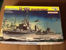 BRAND NEW ,1/700 PLASTIC- GERMAN DESTROYER Z-38 of WW2 FAME by DRAGON MODELS