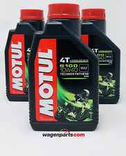 Lubricante Aceite Moto 4 tiempos Semi Syn MOTUL 5100 4T 10W40, pack 3 litros