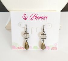 Premier Designs Jewelry FLORENCE Glass & Beads Fishhook Earrings NWT