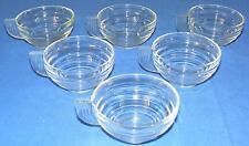 6 tasses anciennes en verre style art déco 10 cl