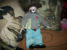 """HERITAGE MINT COLLECTORS Wilbur """"Love And Happiness"""" Porcelain Clown Doll 1989"""