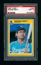 1985 Fleer #199 - Kansas City Royals - George Brett -  PSA 9