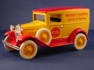 1st Rare First Edition Massey-Harris - Diecast Model A Ford Panel Bank Truck