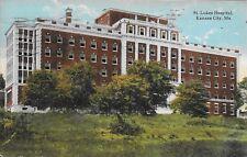 St. Lukes Hospital, Kansas City MO handsome vintage postcard postally used 1923