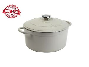 Lodge Enameled Cast Iron 4.0 Quart Dutch Oven, in Oyster White