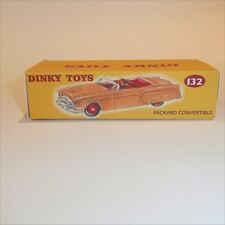 Dinky Toys 132 Packard Convertible - Cream empty Reproduction box