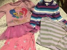 Toddler Clothes Lot 456- Three Long Sleeve Tops-4T  and One Pant  -3T