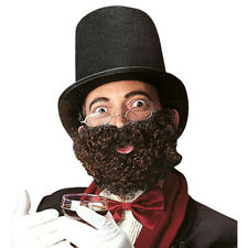 BRAUNER VOLLBART Gentleman Bart braun lockig Professor Doktor Karneval Party1683