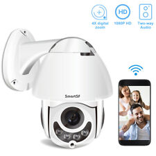 1080P 2MP Pan/Tilt Wireless Dome IP Camera Two-way Audio Outdoor CCTV Detection