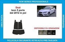 pellicole oscuranti vetri SEAT leon 5p dal 2012 kit posteriore
