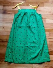 NWT HANNA ANDERSSON RIBBON FAUX TIE SUNDRESS GREEN TULIP BEE DRESS 140 10 NEW