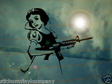 Banksy Style Snow White Car Sticker/Decal *Funny*JDM*VW*Disney*Princess*