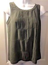 Women's J.CREW Fineline Cami Gray Silk Blouse Shirt Tank Top Blouse Sz 0 #38786