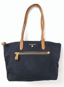 Michael Kors Navy Blue Nylon Tote Bag Purse