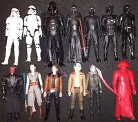 13 12 Inch Star Wars Action Figures Luke Skywalker Darth Vader Han Solo Kylo Ren