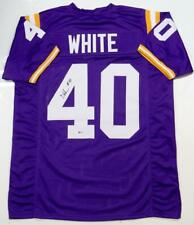 Devin White Autographed Purple College Style Jersey- Beckett Auth *4