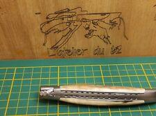 couteau de laguiole 12cm 2mitre brosser défense de mammouth