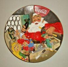 Coca Cola 3D Christmas Plate Santa's Workshop 1994 The Franklin Mint Limited