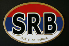 NEW COUNTRY CODE - SRB - STATE OF SERBIA - CAR STICKER