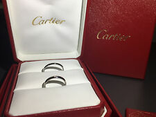 CARTIER Platin 950Pt Trauringe 2,5 mm. Damenring mit Brillant 0,02ct F/VS