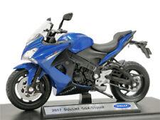 Welly 1:18 Suzuki GSX-S1000F 2017 blue Diecast Motorcycle