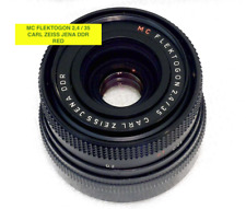 Carl Zeiss Jena MC Flektogon 2,4/35 Red Obiettivo Camera Fotocamera Lens √ Contax F