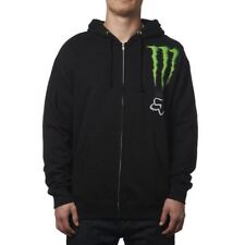 Fox Racing Zebra Zip up Hoody Sweatshirt Monster Energy Black 19366-001 Medium M