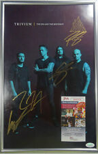 SIGNED TRIVIUM AUTOGRAPHED FRAMED TOUR POSTER CERTIFIED AUTHENTIC JSA # GG18379