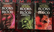 Volumes one, two & three Clive Barker's BOOKS of BLOOD Vintage 1986 Berkley Eds.