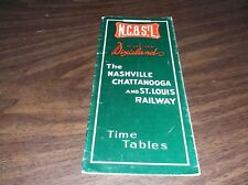 SPRING 1957 NASHVILLE CHATTANOOGA & ST. LOUIS RAILWAY PUBLIC TIMETABLE