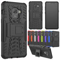 For Samsung Galaxy A8 2018 Case Hybrid Armor Shockproof TPU Hard Kickstand Cover