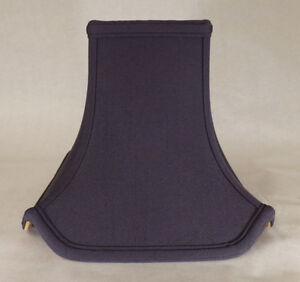 "4 1/2"" x 10"" x 8 1/4"" Black Pagoda Style Tissue Shantung Fabric Lamp Shade #843N"