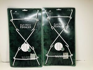 "Lot Of Two 2 WHITE 15""- 20"" PLATE Hanger Plates Platters Tiles HEAVY DUTY"