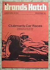 BRANDS HATCH 18 Apr 1971 CLUBMAN'S CAR RACES Programme MG CAR CLUB