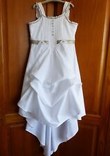 JOTTUM FESTIVE COLLECTION superbe robe blanche, taille 140 cm (10 ans) Good Cond!