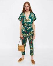 Zara Size M Floral Print Jumpsuit