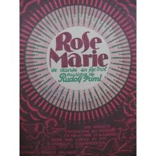 FRIML Rudolf Rose Marie Chant Piano 1925 partition sheet music score