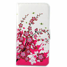 Flip Folding Stand Magnet Book Style ID Card Pouch Wallet PU Leather Case Cover