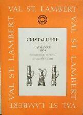 CATALOGUE/LIVRE/KATALOOG/BOEK/BOOK : VAL SAINT LAMBERT ( ST VSL) 1908