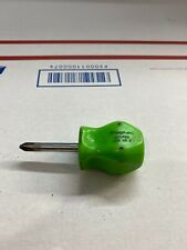 Snap On Green Hard Grip Stubby No. 2 Screwdriver SDDP22