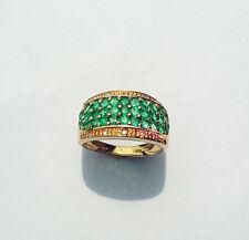 Brillantring 585 Gelbgold Ring Diamanten Smragde 1,29 Karat Wesselton SI Neu