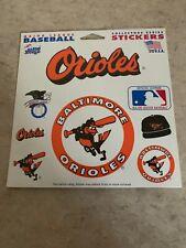 NOS Vtg Baltimore Orioles MLB Sticker Sheet Sport 101 Genuine Team Stickers