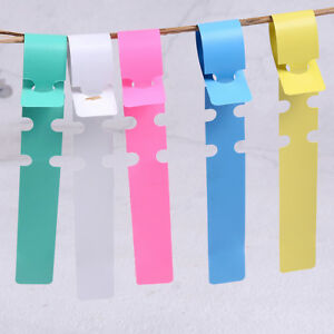 100pcs Garden Plant Pot Markers Plastic Stake Tied Tag Court Lawn Seed LabelS5