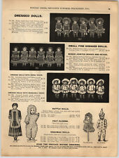 1894 PAPER AD Eskimo Esquimau Clown Bisque Jointed Dolls Knit Fancy Rag Doll